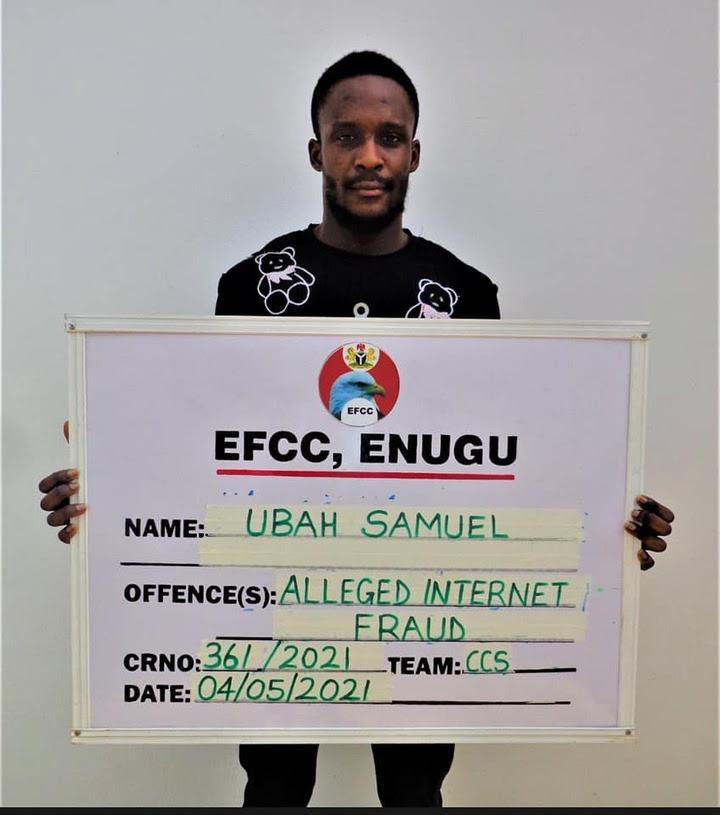 Seven suspected internet fraudsters arrested in Enugu (photos)