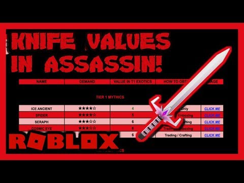 Download Mp3 Assassin Value List 2018 Youtube 2018 Free - roblox assassin value list march 2019 new link