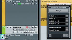 The Tempo Detection Panel can create amap of tempo changes within an audio performance with asingle click — but the results are not always as good as with aDIY approach.