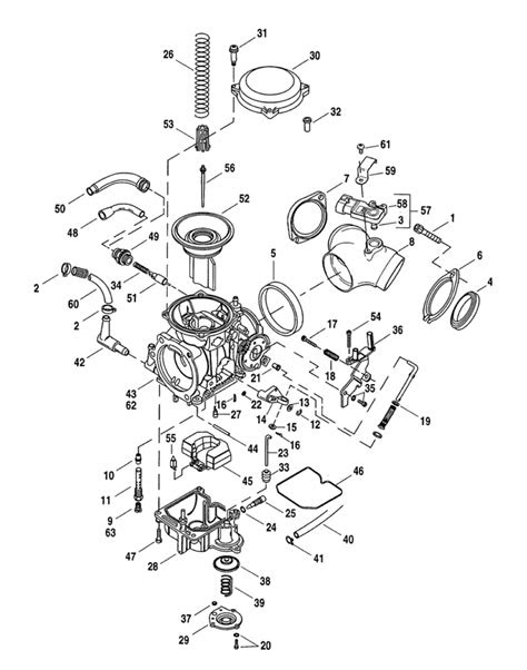 CV Performance | Harley CV Carburetor Parts Diagram