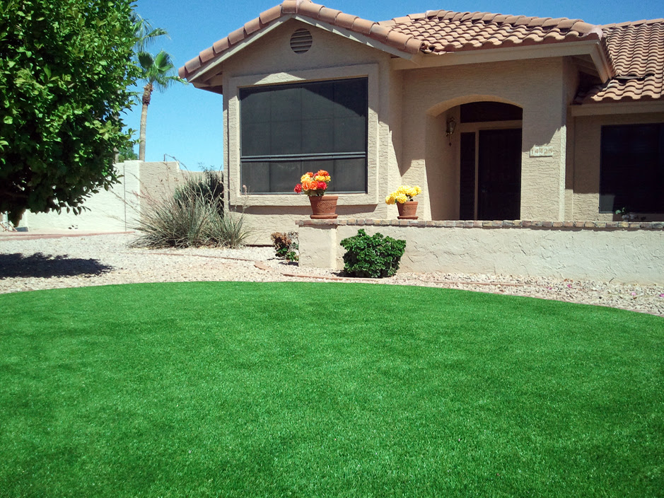 Faux Grass North Miami Florida Landscaping Front Yard Landscaping