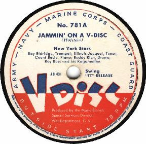 V-Disc featuring Count Basie. Image courtesy of Stanford University Library.