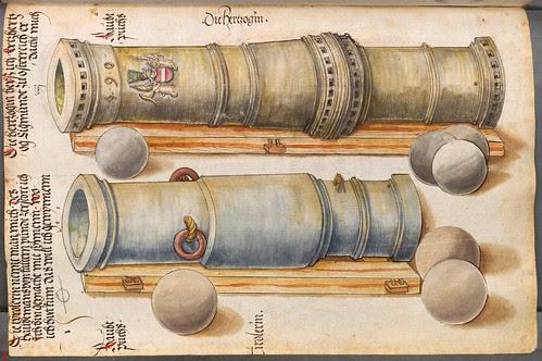 two heavy cannon barrels - 15th century