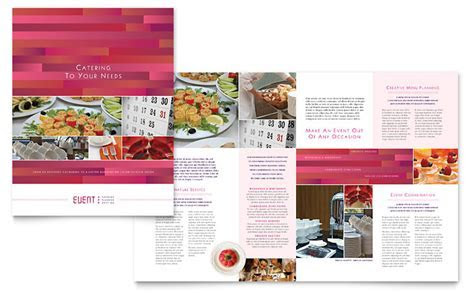 Corporate Event Planner & Caterer Brochure Template   Word