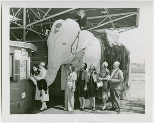 Rosie the mechanical elephant