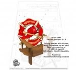 Volunteer Firefighter Chair No.4 Woodworking Pattern - fee plans from WoodworkersWorkshop® Online Store - volunteer firefighters,firefighting,adirondack chairs,outdoor furniture,colorprints,yard art,painting wood crafts,scrollsawing patterns,drawings,plywood,plywoodworking plans,woodworkers projects,works