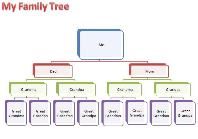 microsoft office family tree template
