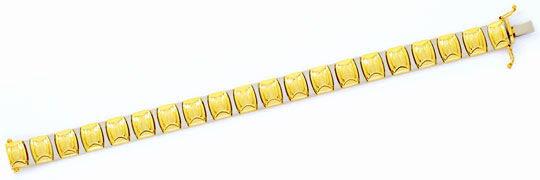 Foto 1, Designer Gold-Armband Gelbgold Weissgold 14K/585 Luxus!, K2110