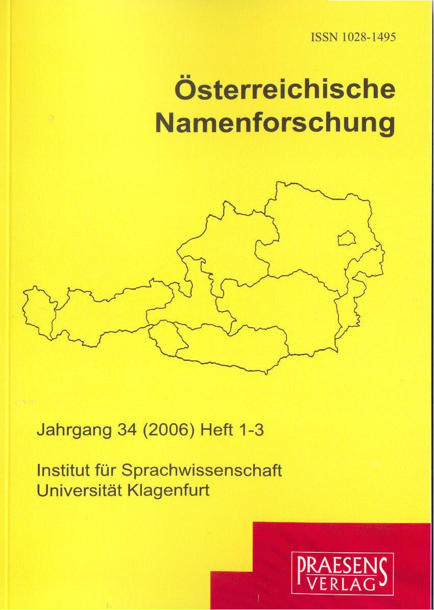 Österreichische Namenforschung