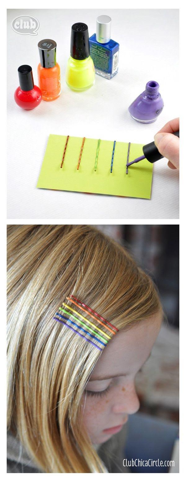 украшение для волос из невидимок