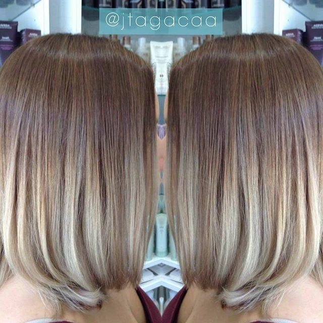Ombre Balayage Color Melt Blonde Highlights Long Bob Medium
