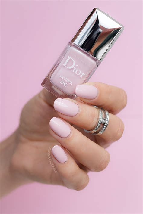 dior aurora  perfect wedding nail polish