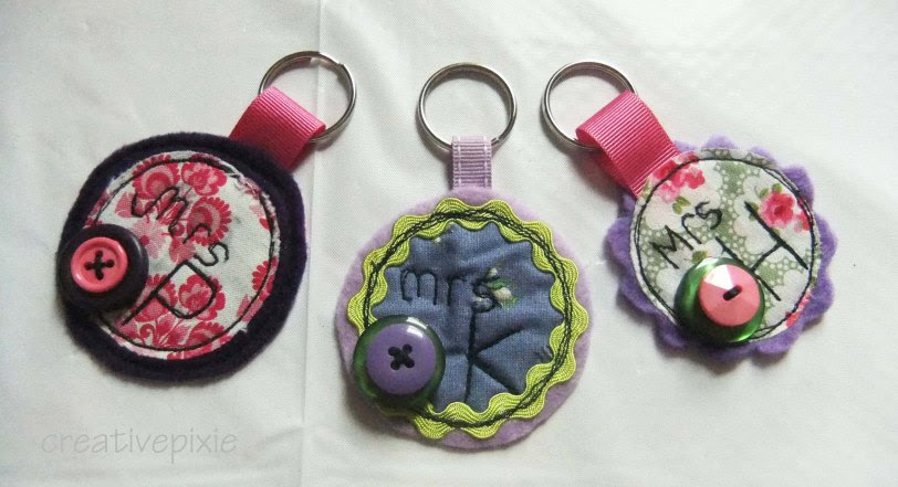 finished 3 keyrings