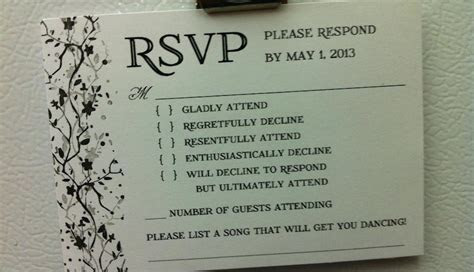 PHOTO: This Is the Best Wedding RSVP Card We've Ever Seen