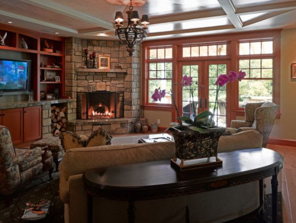 Corner fireplaces – a simple way of spreading a wonderful ...