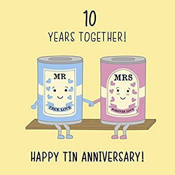 10th Wedding Anniversary Card: Amazon.co.uk: Kitchen & Home