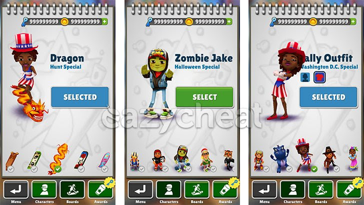 Subway Surfers Cheats - v1.63.1