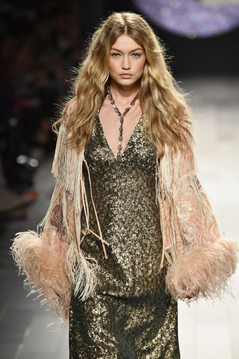 GIGI HADID at Anna Sui Runway Show at New York Fashion Week 09/11/2017
