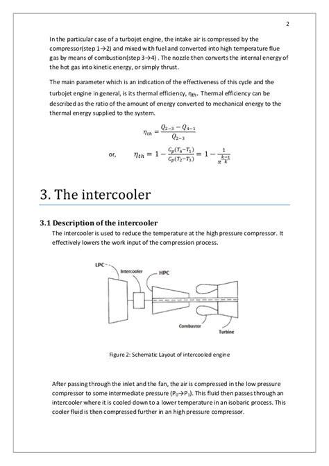 Analysis of work cycle of intercooled turbofan engine