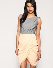 ASOS 2 in 1 Drapey Skirt Dress