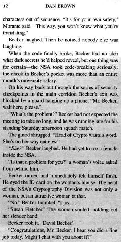 Dan Brown / Digital Fortress / Page 12