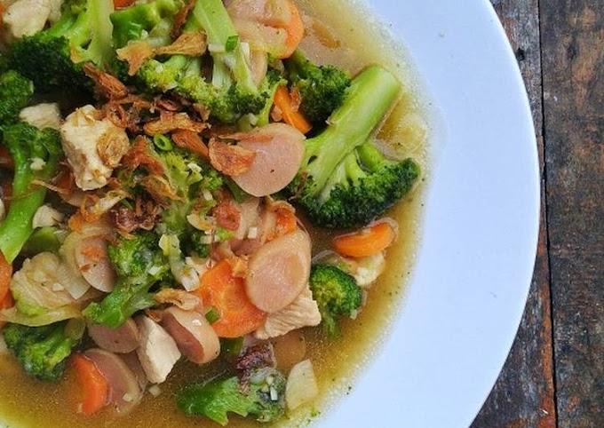 Resep Praktis Tumis ayam brokoli Paling Mudah