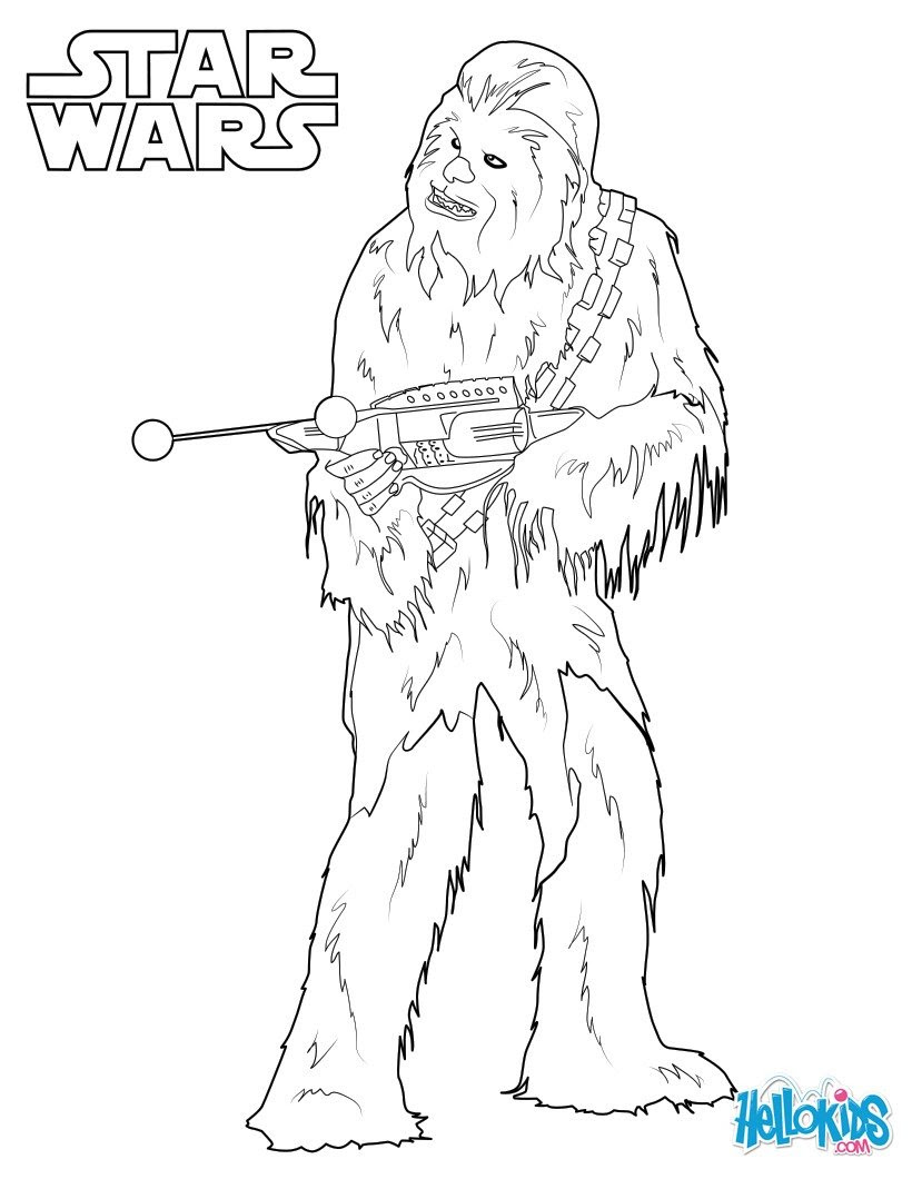 chewbacca coloring page 3ky