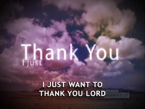 Lirik lagu don moen thank you lord dan Terjemahannya