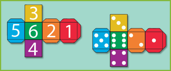 Dice Templates   Free Early Years & Primary Teaching Resources ...