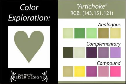 Eva Maria Keiser Designs: Explore Color: Artichoke