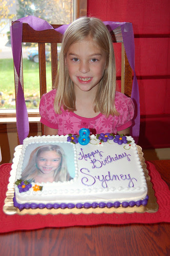 Syd and her cake!