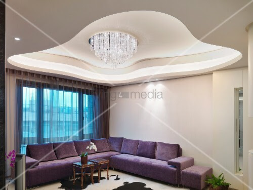 living4media - futuristic ceiling design with modern chandelier ...