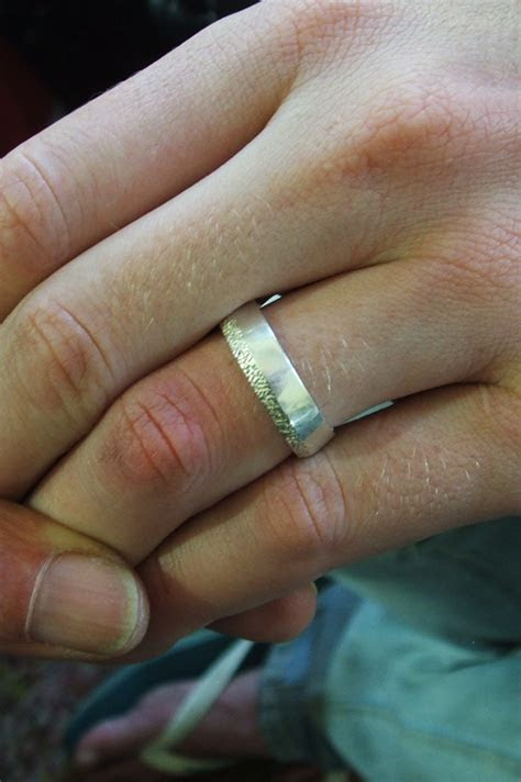 Wedding rings for two architects who work in Shane
