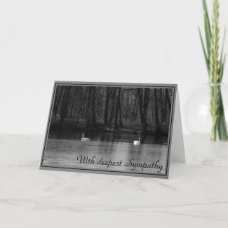 With deepest Sympathy - condolence card card