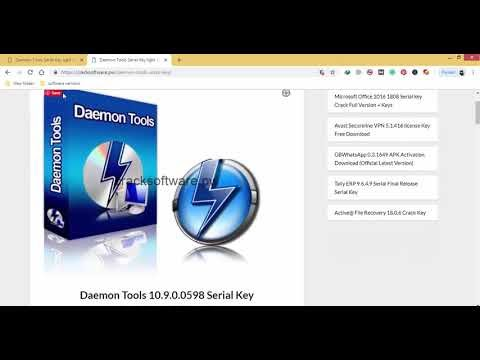 daemon tools license key 10.9