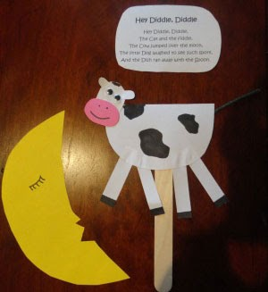 Preschool Crafts for Kids*: Hey Diddle Diddle Jumping Cow ...