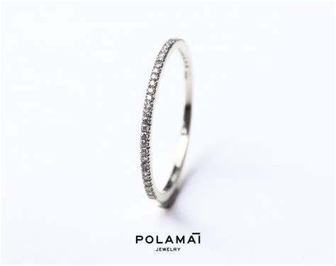 White Gold Diamond Eternity Ring 1.2mm 18k . Micro Pave