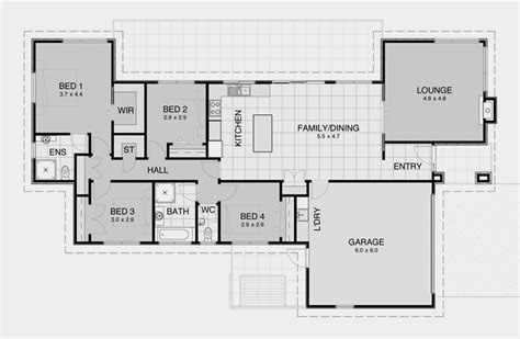 modern house plans  bedroom house plans contemporary