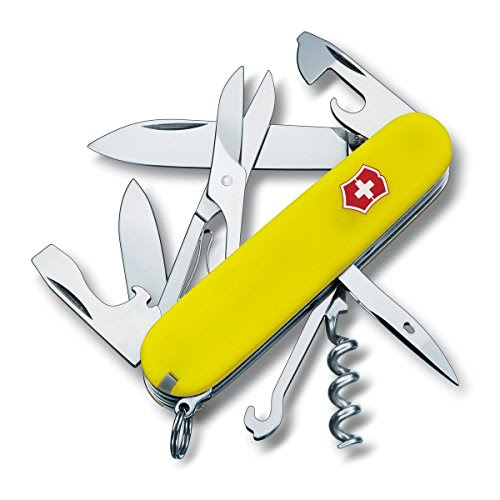 Yellow Swiss Army Knife Present for Climbers