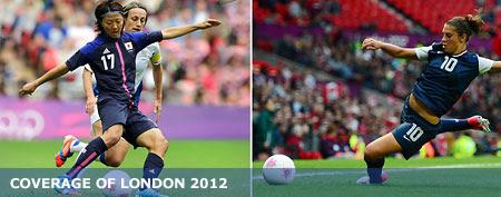 (L-R) Japan's Yuki Ogimi (Reuters); USA midfielder Carli Lloyd dives for the ball. (USA TODAY Sports)
