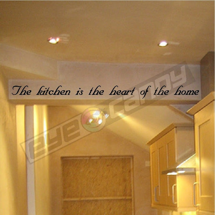 The kitchen is theWall Quotes Sayings Words Lettering