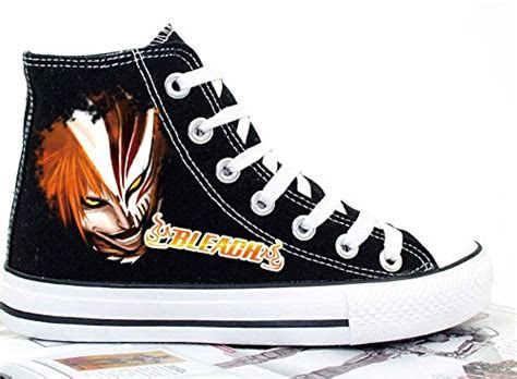 bleach anime kurosaki ichigo canvas shoes cosplay shoes sneakers blackwhite buy   uae