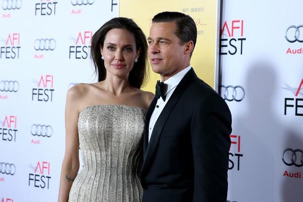 A atriz Angelina Jolie e seu marido, o atr Brad Pitt (Foto: Getty Images)
