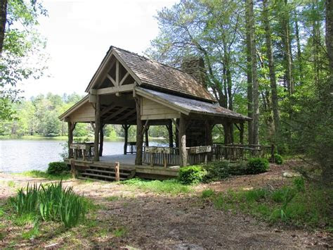 pavilion rustic log rustic ideas backyard pavilion