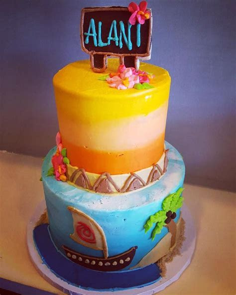 Moana themed cake   Hayley Cakes and CookiesHayley Cakes