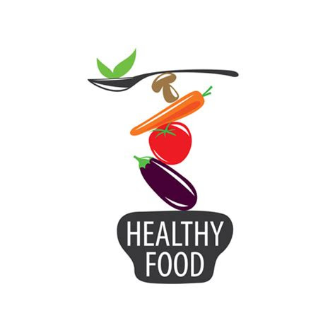 healthy eating logo design vector set  vector food
