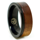 Mens Black Titanium and Koa Wood Wedding Ring