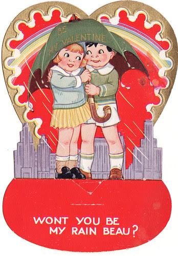 Vintage Rain Valentine Printable from The Cedar Chest blog