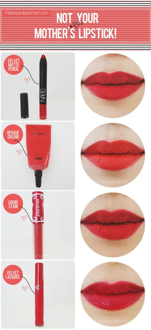 Lipstick Evolved: Red lips sans twist-up tube