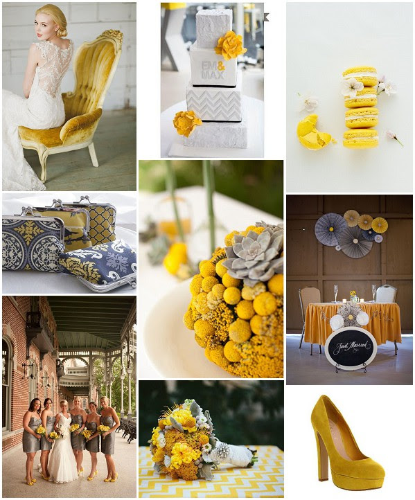 Mustard And Grey Wedding Ideas